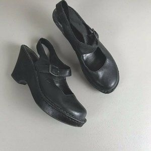 boc Born of Concept Leather Slingback Clogs 9